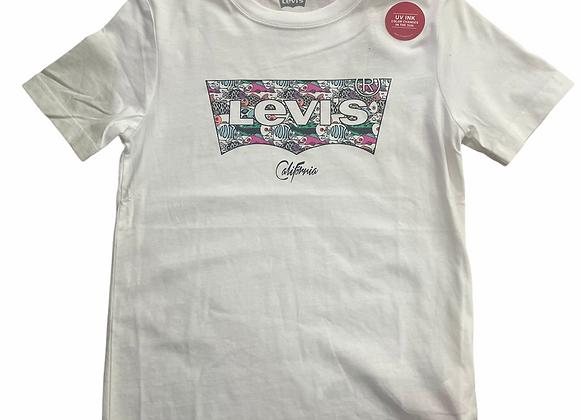 t-shirt en coton imprimé logo Levi's