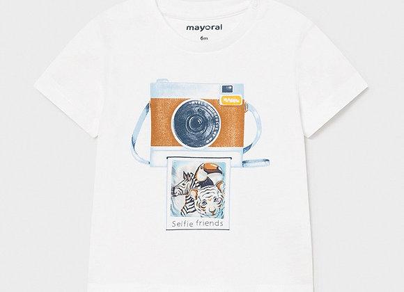 """T-shirt """"play with"""" imprimé bébé garçon Mayoral"""