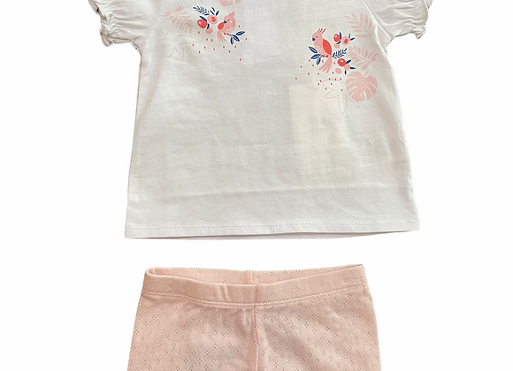 ensemble T-shirt+short coton Carrément Beau