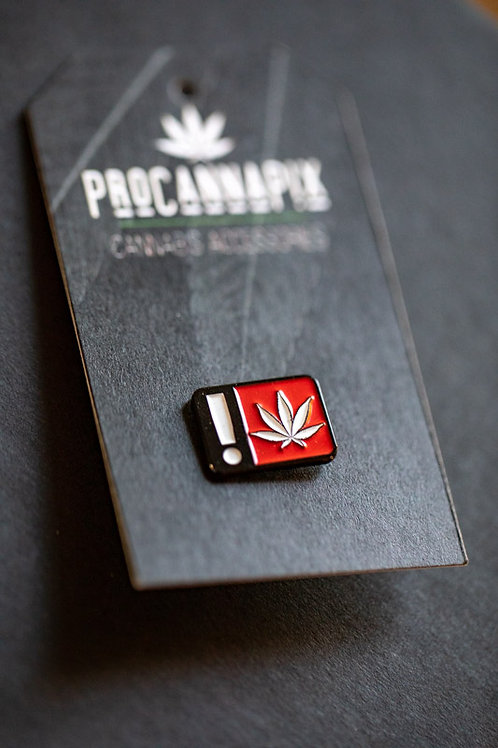 THC Warning Pin with ProCannaPix Leaf