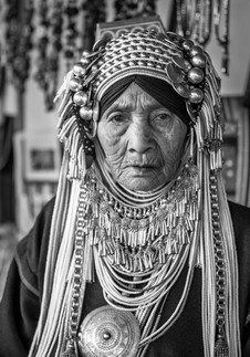 People of Thailand Akha Tribe Old Woman