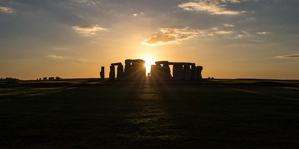 Stonehenge Setting Sun