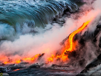 "Year Ago ""Lava Ocean Entry"" Was A Nat Geo Featured Finalist!"
