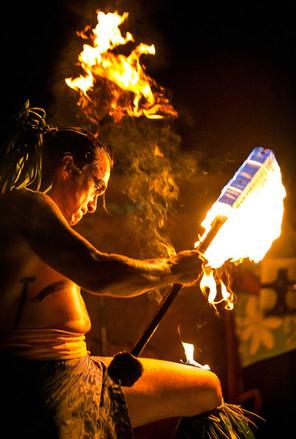 Hawaii Modeling Fire Dancer