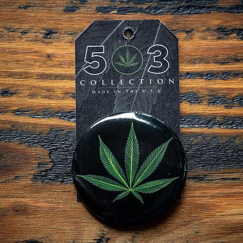 """2.25"""" Pot Leaf Button"""