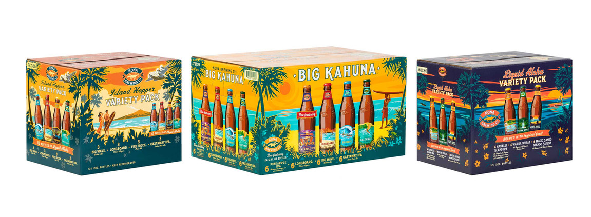 Kona Brewing Co Packages Line Up