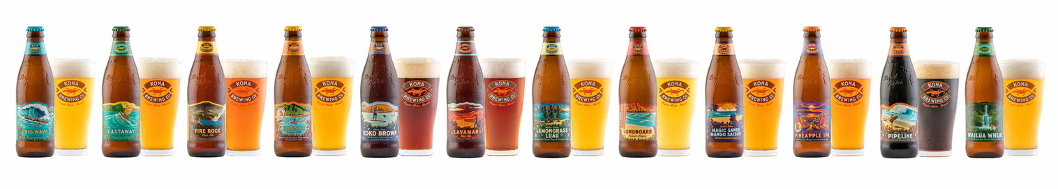 Kona Brewing Co Line Up of Bottles.jpg