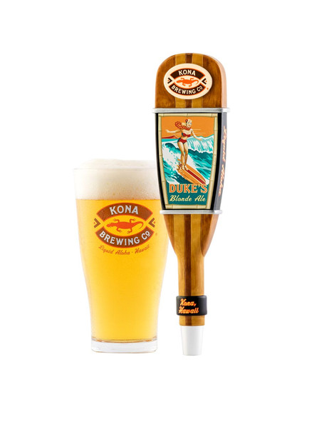 Kona Brewing Co Dukes-Blonde Pint and Tap Handle