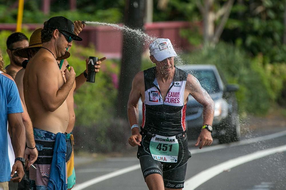 2017 Ironman World Championship Hawaii Local Water Spray Athlete