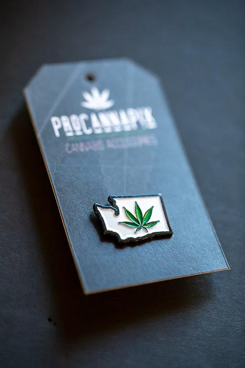 Washington State Pot Leaf Pin