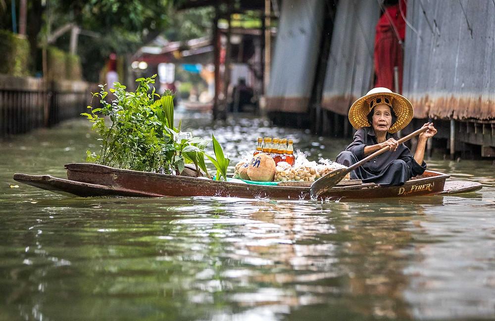 Thailand Floating Market Vendor Asia Culture Mason Lake Award Winner International Photography Awards