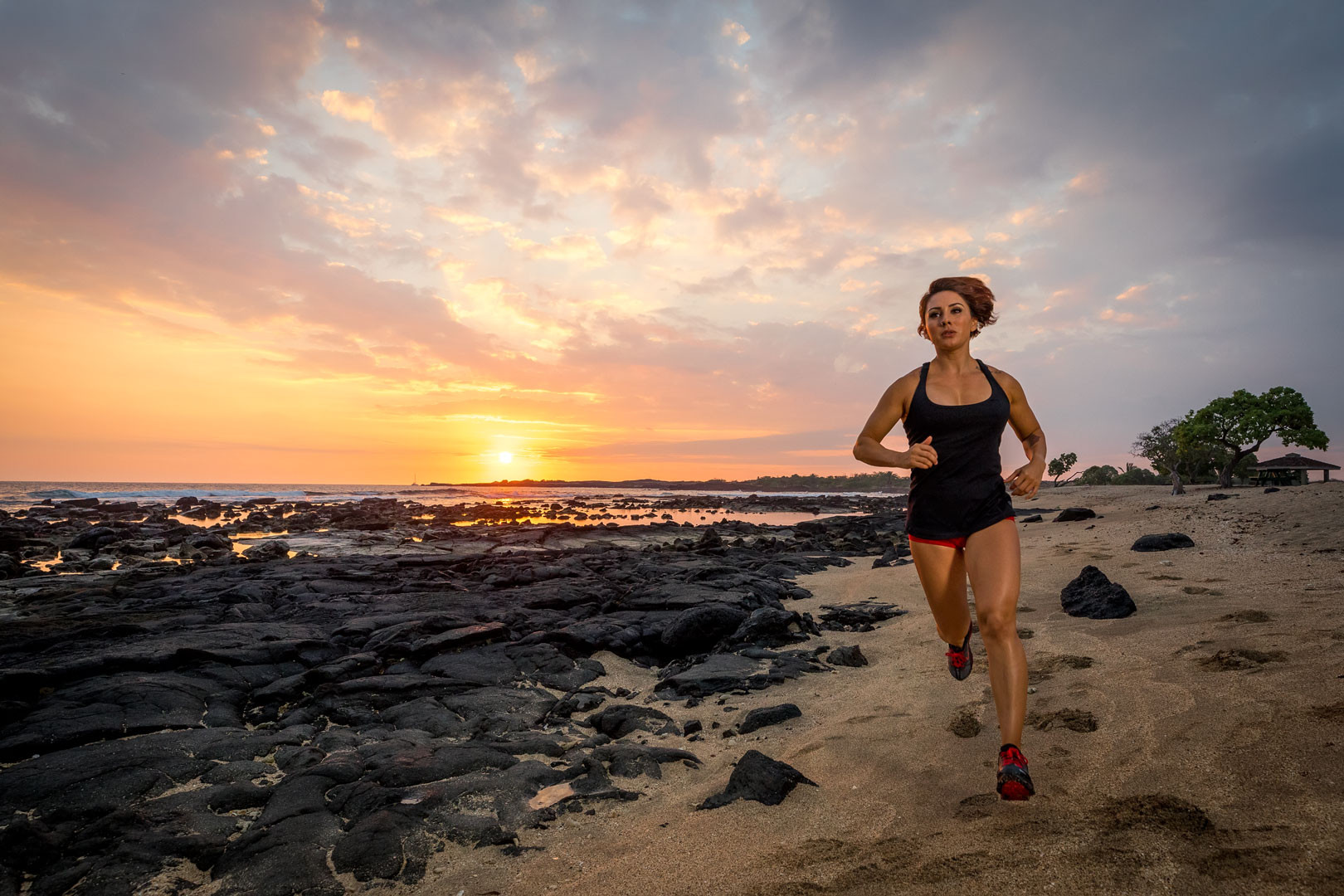 Roxi Zendejas Beach Running