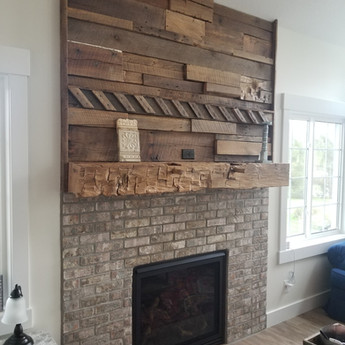Accent Wall & Mantle