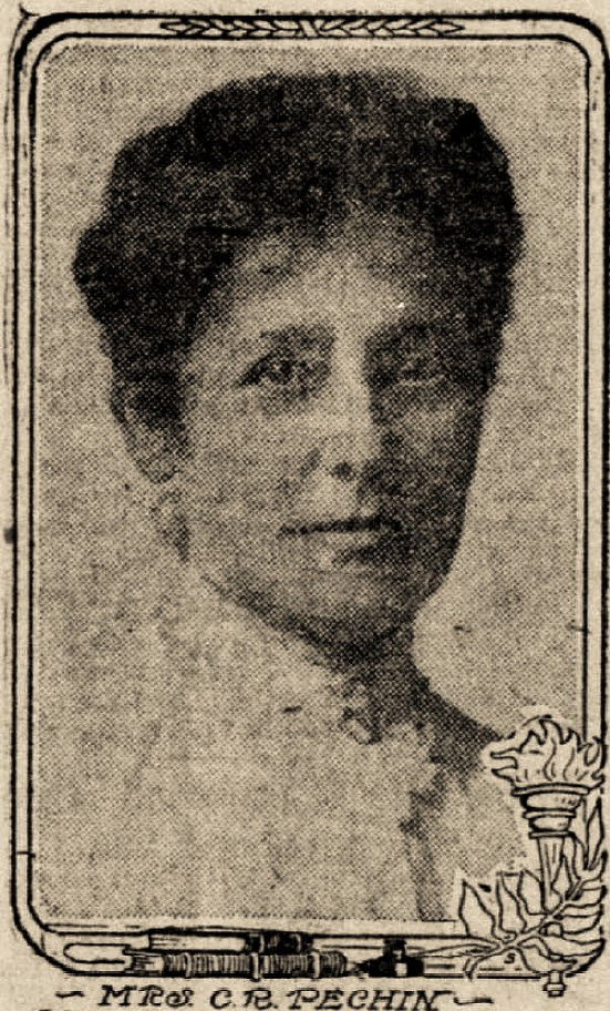 Mrs. Celina R. Pechin, the first principal of Glen Park Grammar School. Image from the San Francisco Call, April 10, 1909.