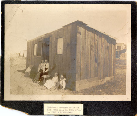 Glen Park earthquake temporary housing, site of Glen Park School, 1906. SF Public Library, AAD-2689.