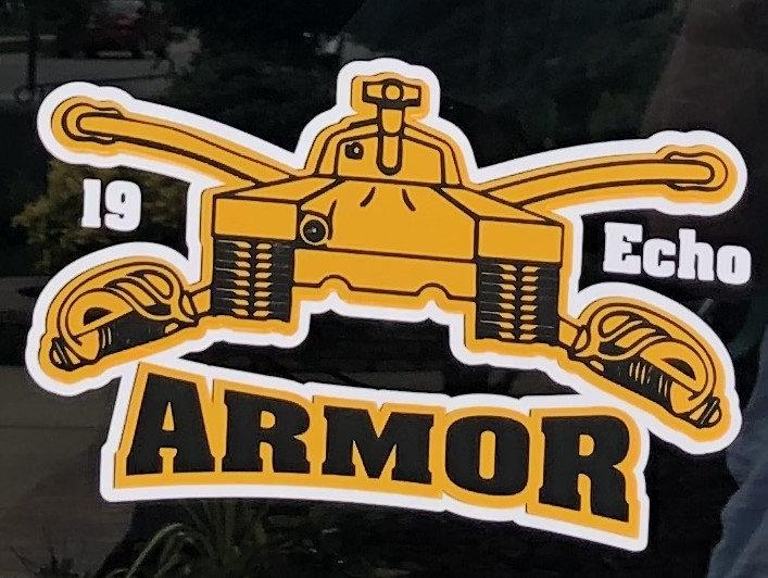 19 Echo Army Decal