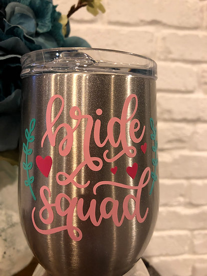 Stemless Stainless Steel Bridesmaid Wine Glass