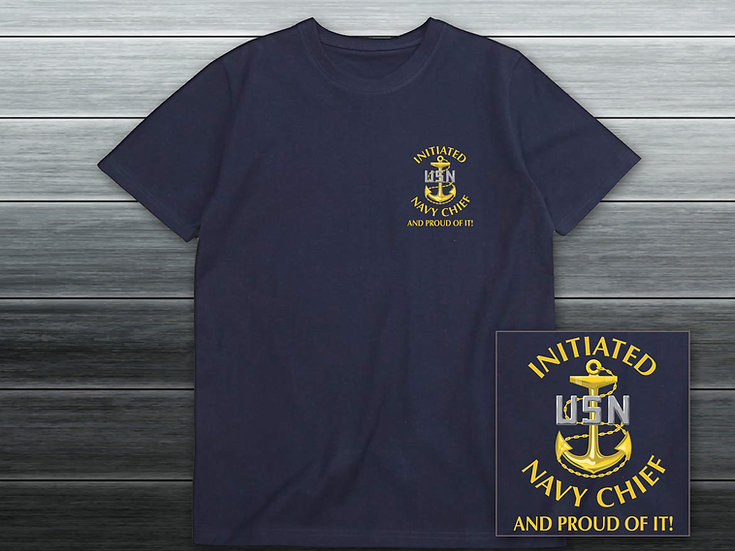 Initiated Navy Chief Navy Stylized T-Shirt
