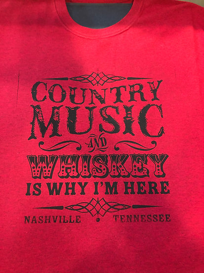 Country Music and Whiskey T-shirt