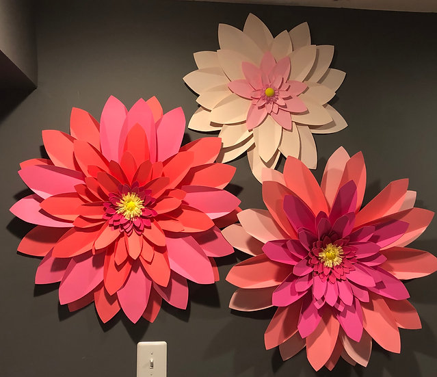 Jumbo Wall Flower Decorations