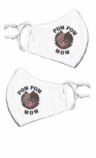 Pom Pom Mom Face Mask