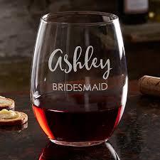 Stemless Bridesmaid Wine Glass Set