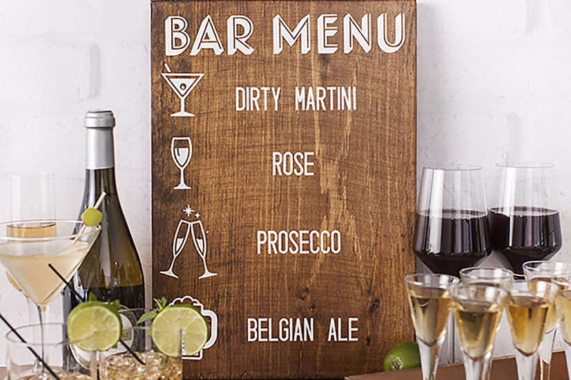 Bar Menu for party