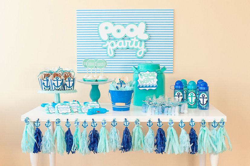 Pool Party Decorations Package