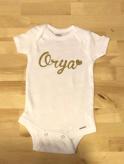 Baby Name Onesie