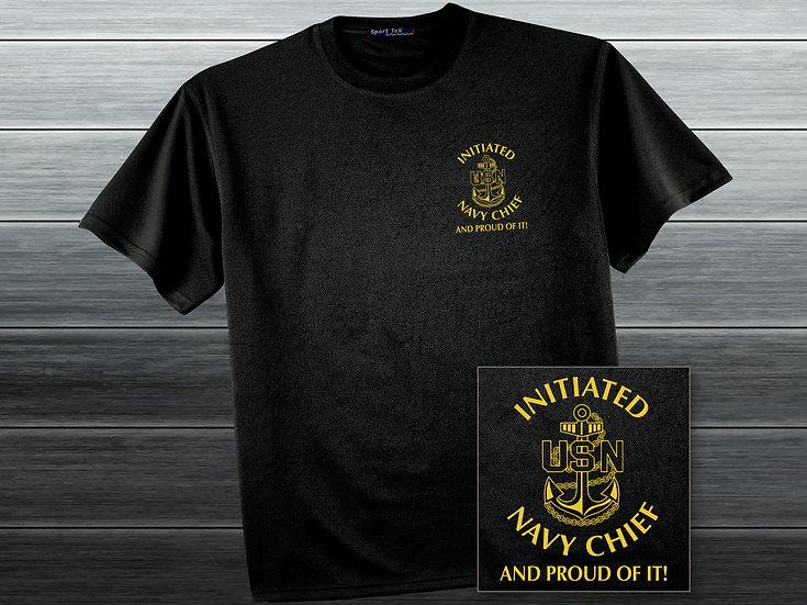 Navy Chief Black T-Shirt
