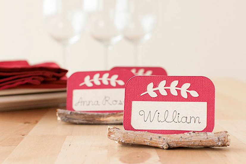 Customizable Natural Place Cards & Holders