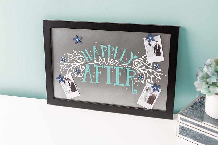 Happily Ever After Manetic Picture in Frame