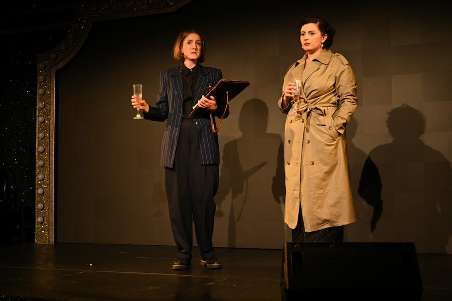 Madeleine McMahon as Dorothy Thompson and Claire-Monique Martin as Evelyn Klein