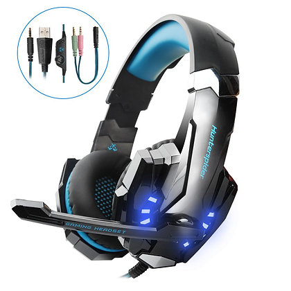 Gaming headset PS4,Hunterspider PC headset Over-Ear Headphone Stereo with Mic