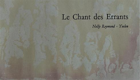 """Livre """"Le chant des Errants"""" par Nelly Reymond"""