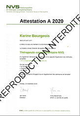 Attestation NVS 2020_Karine Bourgois