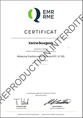 Attestation RME _ Karine Bourgois
