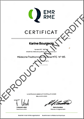 Attestation RME _ Karine Bourgois