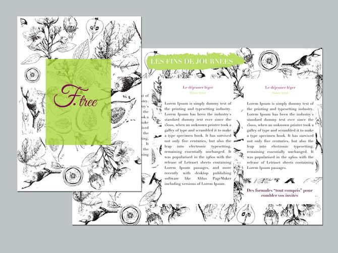 Une carte poétique pour le traiteur Fig Tree