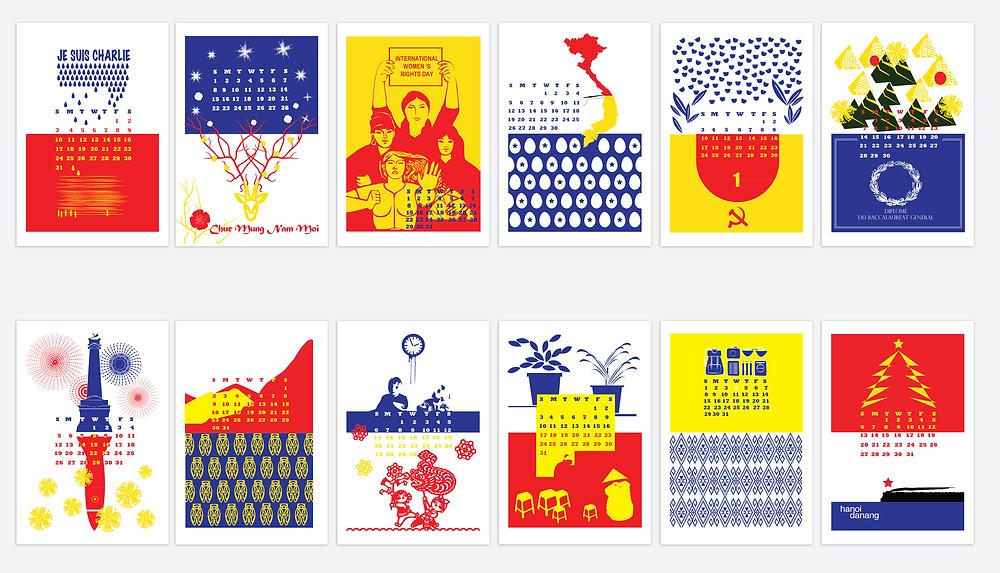 A french-vietnamese calendar by Charlotte Juin