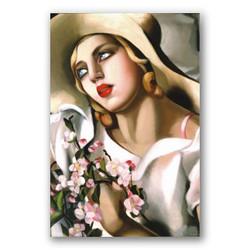 Retrato de una joven-Copia obras arte famosas tamara de lempicka