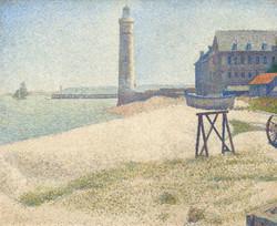 The lighthouse at honfleur-Copia obras arte famosas georges pierre seurat