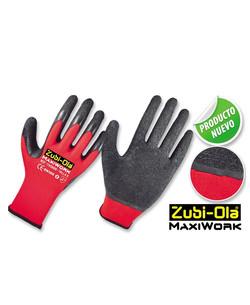 Guantes Latex Corrugado Poliester-Elementos de seguridad industrial guante