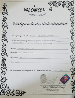 Arlequin Flautista - Certificado de Aute