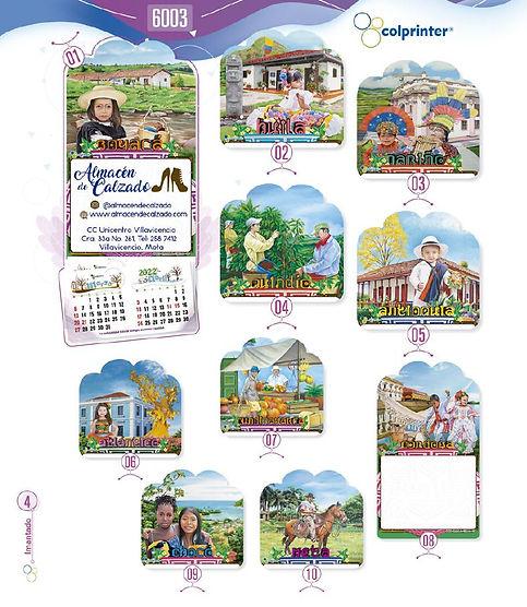 Almanaques y calendarios publicitarios imantados tipicos Ref6003.JPG