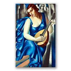 La musica-Copia obras arte famosas tamara de lempicka