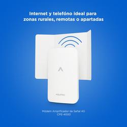 Amplificador de señal de internet rural