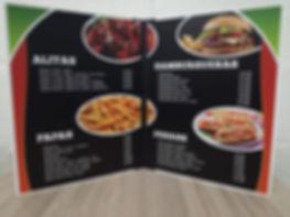 Cartas de menu para restaurantes, helado