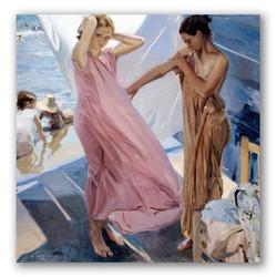 After bathing-Copia obras arte joaquin sorolla y bastida