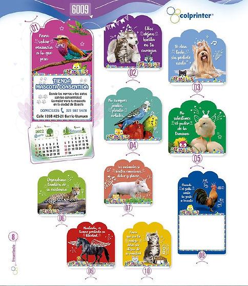 Almanaques y calendarios publicitarios imantados fauna Ref6009.JPG